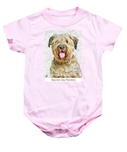 Primary image for Pieter - Bouvier Des Flanders - Baby Onesie - Pink/Large