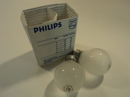 Philips 25 Watt Light Bulbs Pack of 2 Frosted Incandescent HZ-A192-M - $6.54