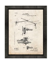 Adjustable Support Patent Print Old Look with Beveled Wood Frame - $24.95+
