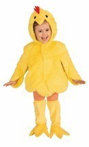 Forum Novità Felpa Pollo Pelo Animale Bambini Costume Halloween 72417 - £17.64 GBP