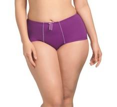 Elomi Bijou Purple Pansy 8726 Boyshort Panty  - Medium to  Plus SIze 4X - $16.95