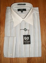 PHAT FARM of NY Blue Striped  French Cuff Dress Shirt - $24.75