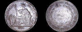 1895-A French Indo-China 1 Piastre World Silver Coin - Vietnam - $274.99
