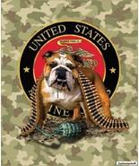 Signature Plush Soft Queen Size U.S. MARINE CORPS TNT Bulldog Blanket 79... - $64.95