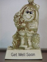 Russ Berrie Silliscupt Statue Vintage Get Well Soon Pretty Please 1978 731 - $12.99