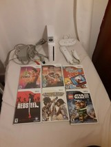 Nintendo Wii Family Fun -Video Game Console Bundle RVL-001 White ZELDA +... - $98.95