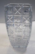 Hand cut square vase Signed Peter ORourke Made in USA Mt Pleasant PA - $431.25