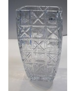 Hand cut square vase Signed Peter ORourke Made in USA Mt Pleasant PA - $412.50