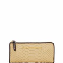 Neu Dooney & Bourke Leder Caldwell L-ZIP Clutch Portemonnaie Sand - £90.70 GBP