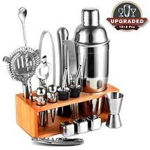 25oz Cocktail Shaker 17pc Bartender Kit with Stand,Professional Stainles... - $35.10