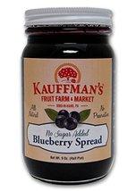 Kauffman's Blueberry Fruit Spread, No Sugar Added, 9 Oz. Jar - $8.64