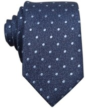 Bar III Carnaby Collection Hyde Dot Skinny Tie Blue - $19.79
