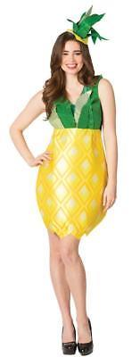 Pineapple Womens Costume Dress Adult Yellow Green Halloween Unique GC6187