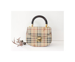 Burberry Haymarket Check Tote Handbag Vintage Repaired - $770.00