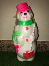 "NEW Vintage Christmas 1968 Empire Lighted 13"" Neon Snowman Blow Mold Table Decor - $69.29"