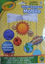 Crayola Color the Solar System Mobile Age 5+, Punch-Out w String - $2.96