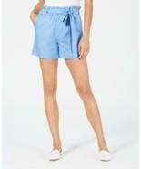 Maison Jules Paper Bag Tie Waist Shorts Twinkle Blue Size SMALL - $12.32