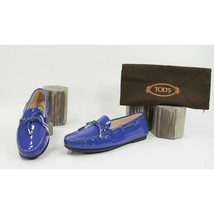 Tod's Gomma Lu Laccetto Purple Patent Leather Moccasins Driver Loafer 36.5 NIB - $321.26