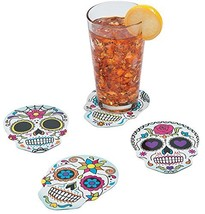 12 ~ Day of the Dead / Candy Skull Cardboard Coasters / Wall Decorations... - $7.70