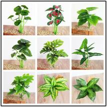 1x Simulation Plant Artificial Faux Silk Leaves Turtle Leaf DIY Wall Acc... - $2.69+