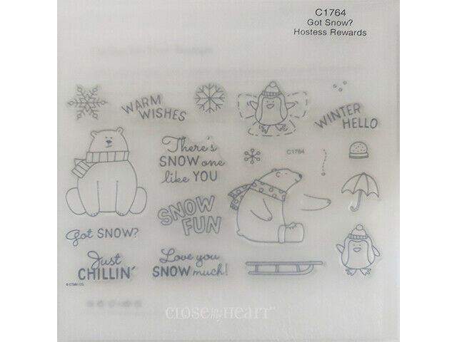 Close to My Heart Got Snow? Clear Acrylic Stamp Set #C1764