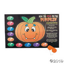 Silly Pin the Nose on the Pumpkin Halloween Party Game - $5.24