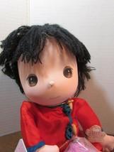 "Precious Moments MITSU chinese Doll the worlds children yarn.Hair 13"" - $29.70"