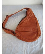 AmeriBag Healthy Back Bag Nylon Sling Bag Brown Leather - $94.08