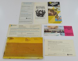 1974 Dodge Dart Owners Manual, Accessories + Other Papers Glove Box Set - $22.99