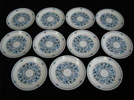 Set of 11 Noritake Blue Moon (9022) Salad/Desert Plates Vintage Pieces 8... - $89.99