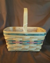 Longaberger 1991 Hostess Customer EASTER BASKET With Plastic Protector - $16.00