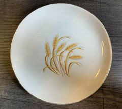 Vintage Homer Laughlin Golden Wheat Oven Proof 22K Gold 9 1/4 Inch Plate - $19.59