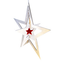 3D Aluminum and Crystal Star Ornament image 1
