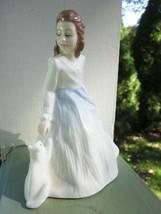 Royal Doulton Andrea Figurine HN 3058 Girl with Cat 1984 Bone China England - $14.24