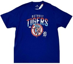 Fanatics MLB Detriot Tigers Marvel Captain America Men Graphic T-Shirt (Large) - $19.79