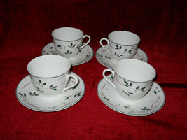 Christopher Stuart Holiday Splendor set of 4 cups and saucers - $24.70