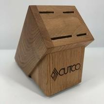 Cutco Wood Knife Block 4 Slot USA Honey Oak - $12.44
