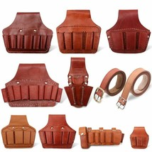Portable Cowhide Toolkit Bags Woodworking Electrician Tools Belt Pouch O... - $22.16+