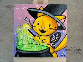 161009   mini painting   little witch  3  thumb200
