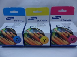 Lot Of 3 Genuine Oem Samsung Toner CLP-Y300A CLP-C300A CLP-M300A New - $59.35