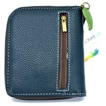Chala Handbags Faux Leather Catcus Cacti Navy Zip Around Wristlet Wallet image 2