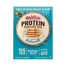 Krusteaz Protein Buttermilk Pancake Mix, 20-Ounce Boxes Pack of 8
