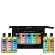 KAMA SUTRA AROMO MASSAGE OIL THERAPY TRANQUILITY KIT GIFT SET PACKAGE New - $25.24