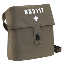 Swiss Army Military Style Canvas White Cross Olive Drab Shoulder Bag Car... - $15.87 CAD