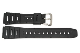 2 Pieces 19mm Black Rubber Resin Sport Watch Band Strap - $9.89
