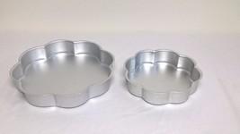 "2 Wilton Aluminum Petal Cake Pans 12"" 502-1255 & 9"" 502-1263 - $11.76"