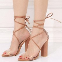 Summer Heels LALA Women IKAI Gl Shoes Heel Sexy High Sandals Strap Ankle Square ZgfBXxnfwI