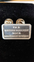 im a british bulldog not a brussel sprout  lapel Badge / tie pin, Lapel Pin Badg