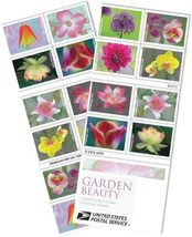 USPS Garden Beauty Book 20 Forever邮票 -  $ 14.99