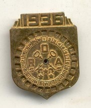 1936 Orphan Annie's secret society decoder pinback pin repaired - $24.99